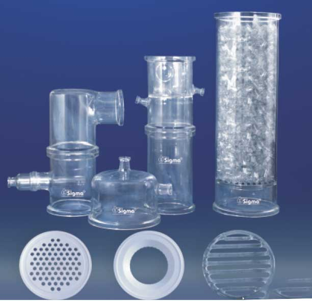 Glass Column Components, Glass Column, Distillation Column Manufacturers, Suppliers India