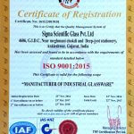 Sigma Scientific Glass ISO Certificate