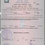Triple Wall Reactor Trademark Patent Certificate