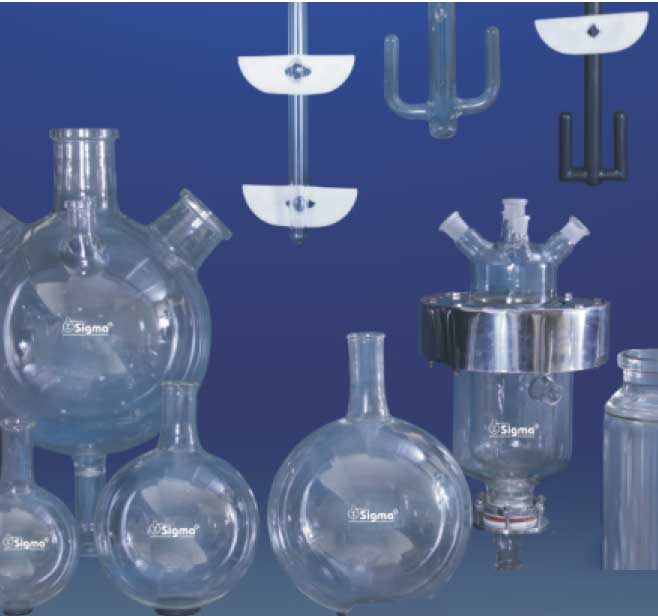Glass Vessels, Glass Stirrers, Unjacketed Glass Reaction Vessels, Jacketed Glass Vessels / Stirrers Manufacturers India